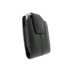 Verizon Vertical Leather Pouch for BlackBerry Curve, Curve 3G, Bold - Black