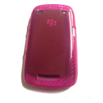 Verizon TPU Silicone Case for Blackberry Curve 9370 - Clear Pink