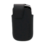 RIM Blackberry Bold 9900 9930 Leather Pouch Swivel Clip Holster - Black