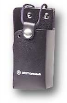 OEM Motorola RLN4865A Hard Leather Carrying Case with Belt Loop - Black