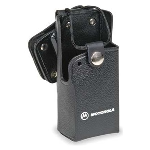 OEM Motorola RLN4866A Hard Leather Carrying Case with Swivel Clip - Black