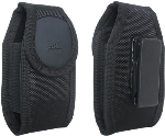 Verizon Rugged nylon case for small device - Black - Fits Convoy 4, DuraXV Plus, DuraXV, Convoy 3, DROID X, S4 mini