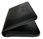 Reiko leather business card holder - Black