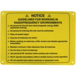 Master Lock NOTICE RF Guideline Sign  10 X 14 inches