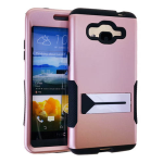 Hopper Protector Case for Samung Galaxy Grand Prime G530 (Black Skin and Rose Gold Snap with Stand)