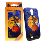 Unlimited Cellular Hybrid Fit-On Protector Case for Samsung Galaxy S4 - Blue, Yellow Halloween Series