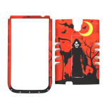 Unlimited Cellular Rocker Snap-On Case for Samsung Galaxy S4 (Red/Black Halloween Series)