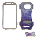 Kicker Snap-On Protector Case for Samsung Galaxy S6 (Crystal Design/Purple Design on Light Pink)