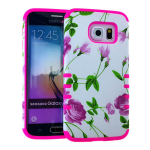 Rocker Series Slim Protector Case for Samsung Galaxy S6 (Flower Design)
