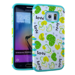 Rocker Series Slim Protector Case for Samsung Galaxy S6 (Heart Design)