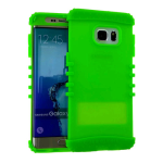 Rocker Series Silicone Skin Protector Case for Samsung Galaxy S6 Plus (Fluorescent Green)