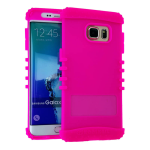 Rocker Series Silicone Skin Protector Case for Samsung Galaxy S6 Plus (Fluorescent Magenta)