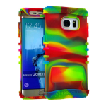 Rocker Series Silicone Skin Protector Case for Samsung Galaxy S6 Plus (Rainbow)