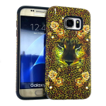 MYVI Series Slim Hybrid Protector Case for Samsung Galaxy S7 (Black Skin and Animal Snap)