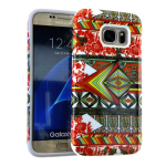 MYVI Series Slim Hybrid Protector Case for Samsung Galaxy S7 (White Skin and Tribal Snap)