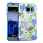 MYVI Series Slim Hybrid Protector Case for Samsung Galaxy S7 (Blue Skin and Flower Design Snap)