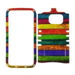 Rocker Snap-On Case for Samsung Galaxy S7-Rainbow Design