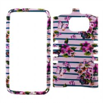 Rocker Snap On Case for Samsung GS7 - Flowers Design