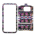 Unlimited Cellular Rocker Snap-On Case for Samsung Galaxy S7-Flowers Design