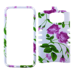 Rocker Snap-On Case for Samsung S7- Flower Design