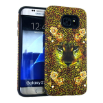 MYVI Series Slim Hybrid Protector Case for Samsung Galaxy S7 Edge (Black Skin and Animal Snap)