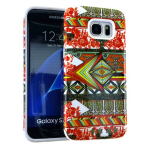 MYVI Series Slim Hybrid Protector Case for Samsung Galaxy S7 Edge (White Skin and Tribal Snap)