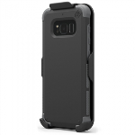 SAMSUNG GALAXY S8+ PUREGEAR DUALTEK WITH HIP CLIP HOLSTER - BLACK/BLACK