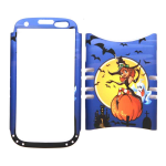 Unlimited Cellular Rocker Snap-On Case for Samsung Galaxy S3 (Blue/Yellow Halloween Series)