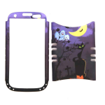 Unlimited Cellular Rocker Snap-On Case for Samsung Galaxy S3 (Cat Halloween Series)