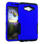 Hopper Protector Case for Samsung Galaxy J7 (Black Skin and Rubberized Honey Blue Snap with Stand)