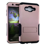 Hopper Protector Case for Samsung Galaxy J7 (Black Skin and Rose Gold Snap with Stand)