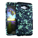 Hopper Protector Case for Samsung Galaxy J7 (Black Skin and Mosaic Design Snap with Stand)