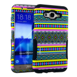 Hopper Protector Case for Samsung Galaxy J7 (Tribal Design Snap and Black Skin)
