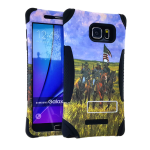Kicker Series Protector Case for Samsung Galaxy Note 5 (Black Skin and Americans Design Snap with Stand)