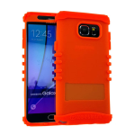 Rocker Series Silicone Skin Protector Case for Samsung Galaxy Note 5 (Orange)