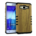 Rocker Slim Case for Samsung ON5 -Light Wood Pattern Snap&Black Skin