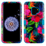 SAMSUNG GALAXY S9 MYBAT ELECTRIC HIBISCUS/TROPICAL TEAL TUFF HYBRID PROTECTOR
