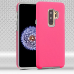SAMSUNG GALAXY S9 PLUS MYBAT FUSION PROTECTOR CASE-ELECTRIC PINK DOTS TEXTURED/LIGHT GRAY