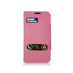 Samsung Deluxe Dual-Use Flip Pu Leather Case for Samsung Galaxy S4 - Hot Pink