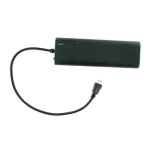 Unlimited Cellular MicroUSB Battery Extender / Back-Up Charger for Sony eReader PRS-T1, Kobo Touch (Black) - SC-K2B