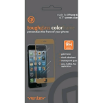 Ventev Toughglass Screen Protector for iPhone 6/6s/7/8 - Clear with Gold Frame