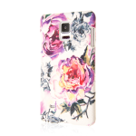 Empire Signature Series Slim-Fit Case for Samsung Galaxy Note 4 - Diamond Knit Pink Faded Flowers
