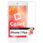 CELLET PREMIUM TEMPERED GLASS SCREEN PROTECTOR FOR APPLE IPHONE 6 PLUS / IPHONE 6S PLUS / IPHONE 7 PLUS