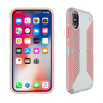 Speck Presidio Grip Case for Apple iPhone X (Grey/Tart Pink)