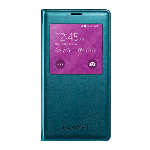 Original Samsung Galaxy S5 S View Flip Cover Case - Teal Green
