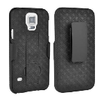 Verizon Kickstand Shell Case and Holster for Samsung Galaxy S5 - Black