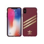 Adidas Polycarbonate Case for Apple iPhone XS Max - Collegiate Burgundy Gazelle