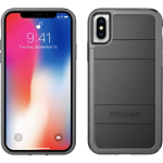 Pelican Protector Case for Apple iPhone X (Black and Light Gray)