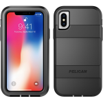 Pelican Voyager Rugged Case for Apple iPhone X (Black and Black)