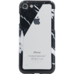 Candywirez Hard Clear Case for Apple iPhone 6 / 6S / 7 / 8 (Black Marble Slant)